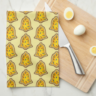 Yellow Bell Sprinkles Cookie Holiday Christmas Tea Towel