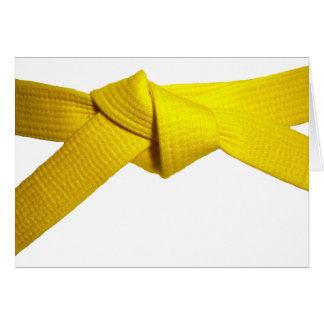 Yellow Belt Card