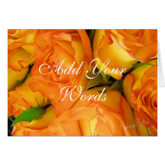 Yellow Bi-colour Roses-customise Card