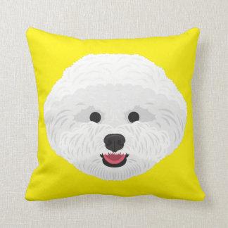 Yellow Bichon Frise Cushion
