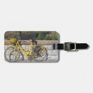 Yellow bicycle in Italy Luggage Tag