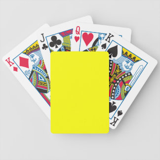 Yellow Bicycle Playing Cards