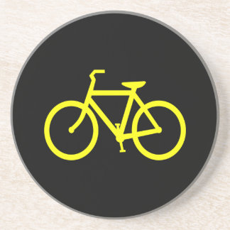 Yellow  Bike Drink Coaster