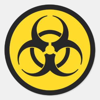 Yellow Biohazard Symbol Classic Round Sticker