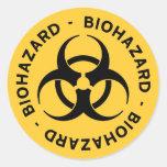 Yellow Biohazard Symbol Sticker