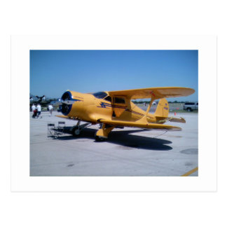 Yellow Biplane Postcard