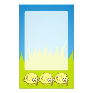 Yellow bird cartoon 14 cm x 21.5 cm flyer