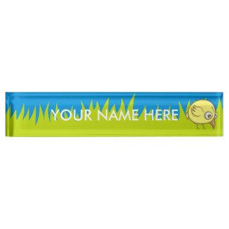 Yellow bird cartoon desk nameplates