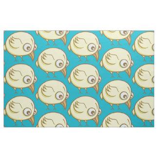 Yellow bird cartoon fabric