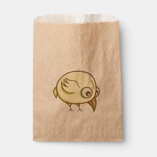 Yellow bird cartoon favour bag