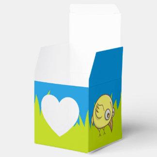 Yellow bird cartoon favour box