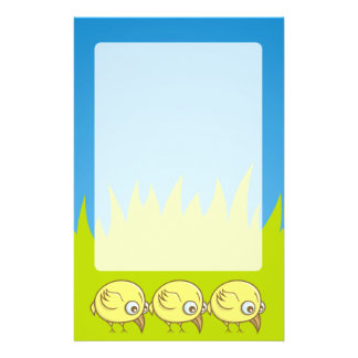Yellow bird cartoon flyer