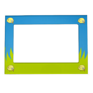 Yellow bird cartoon magnetic photo frames