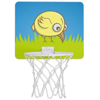 Yellow bird cartoon mini basketball hoop
