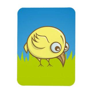 Yellow bird cartoon rectangular photo magnet