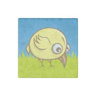 Yellow bird cartoon stone magnet
