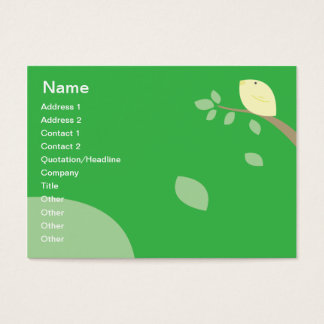 Yellow Bird - Chubby Business Card