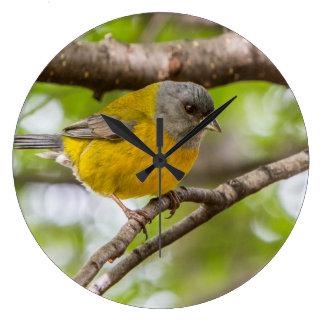 Yellow Bird Large Clock