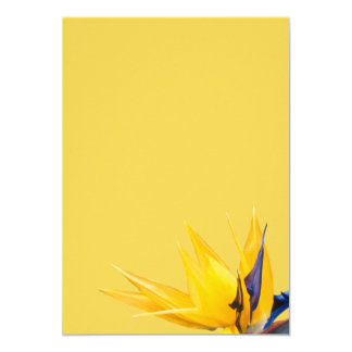 "Yellow Bird of Paradise Wedding Blank Paper 5"" X 7"" Invitation Card"