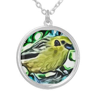 Yellow bird painting custom jewelry