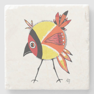 Yellow Birdie Coaster