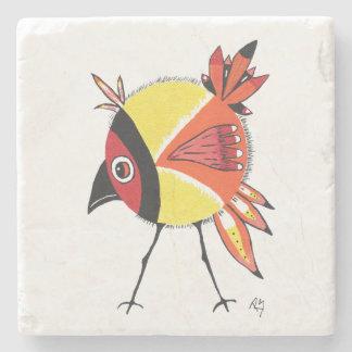 Yellow Birdie Stone Coaster