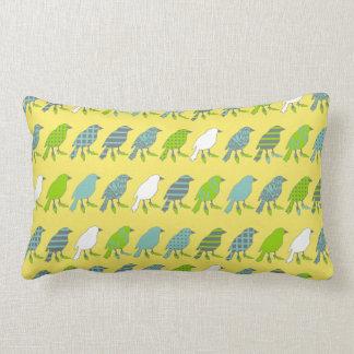 Yellow Birds Wearing High Heels Pillow Cushions