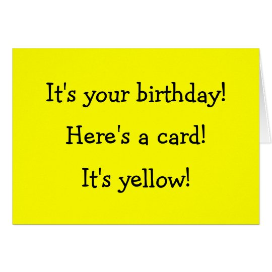 Yellow Birthday Card