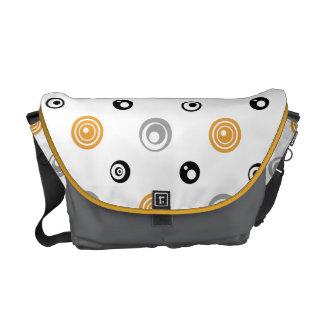 Yellow, Black, and Gray Circles Messenger Bag