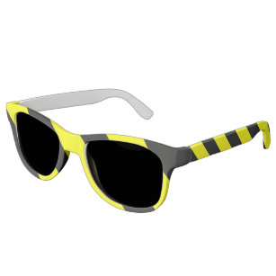 a9567ff0ac8 Yellow Black Attention Warning Stripes Sunglasses