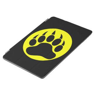 Yellow Black Bear Paw iPad Air Cover