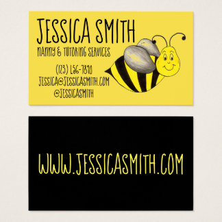 Yellow Black Bumble Bee Bumblebee Insect Buzz Business Card