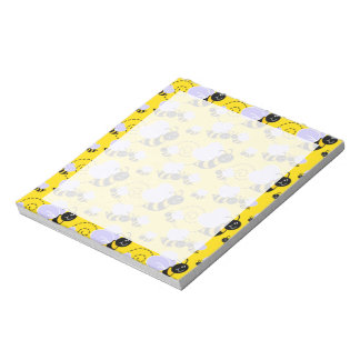 Yellow & Black Bumble Bee Notepad