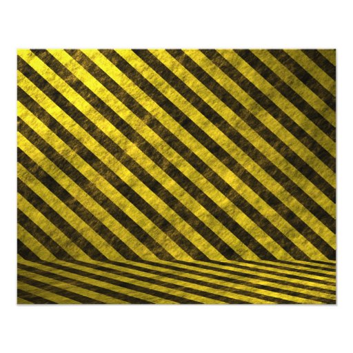 Yellow Black Chevron Stripes Photographic Print
