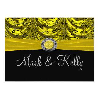 Yellow & Black Draped Baroque Announcement