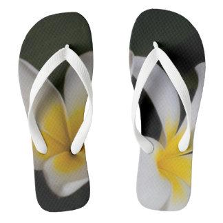 yellow black flip-flop thongs