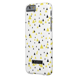 Yellow & Black Geometric Pattern Personalized Barely There iPhone 6 Case