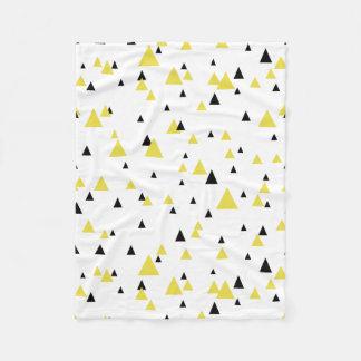 Yellow & Black Geometric Pattern Personalized Fleece Blanket