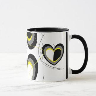 Yellow&Black Hearts Mug