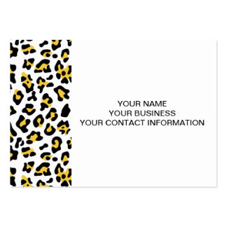 Yellow Black Leopard Animal Print Pattern Business Cards