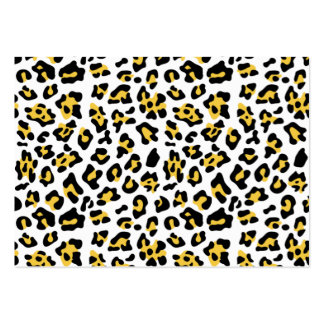 Yellow Black Leopard Animal Print Pattern Business Card Template