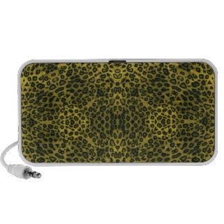 Yellow Black Leopard Print Pattern Travelling Speakers