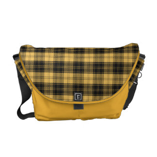 Yellow & Black MacLachan Tartan Messenger Bag