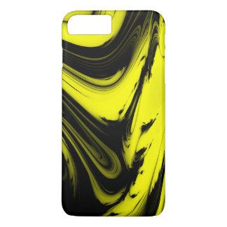 Yellow & Black Marble iPhone 8 Plus/7 Plus Case