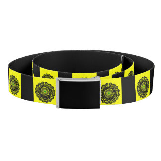 Yellow Black Native Inspired Design Belt