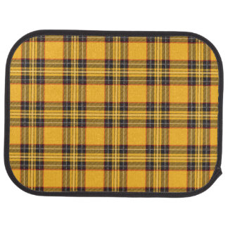 Yellow Black Plaid  Car Mats (Rear) (set of 2)