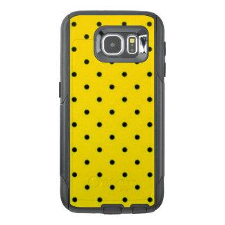 Yellow & Black Polkadots Pattern Print Design OtterBox Samsung Galaxy S6 Case