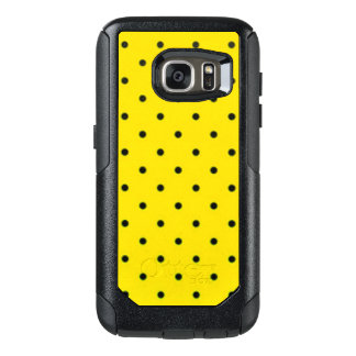 Yellow & Black Polkadots Pattern Print Design OtterBox Samsung Galaxy S7 Case