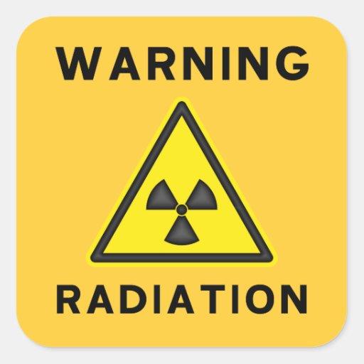 Yellow & Black Radiation Warning Sticker