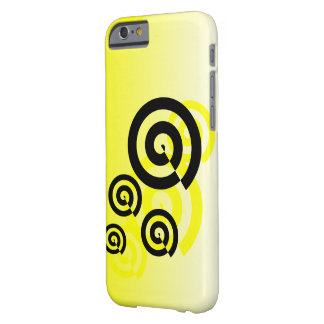 Yellow & black swirls graphic phone cases barely there iPhone 6 case